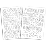 Mademoiselle Toga MEG605 Alphabet de 126 lettres thermocollantes Enjoy Tissu Blanc 15,5 x 27,5 x 0,1 cm