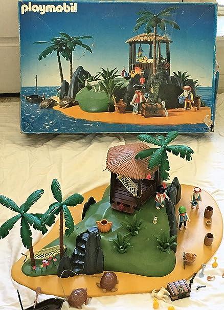 Amazon Playmobil 3799 Rare Vintage Pirates Secret Island Set