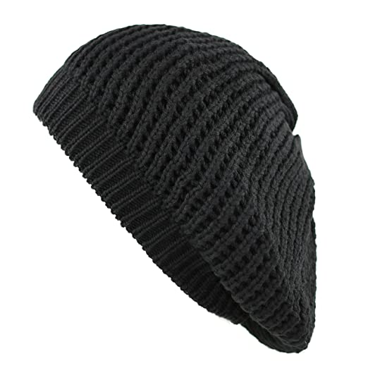 The Hat Depot 200h 008 Knit Beret Tam Hat Black At Amazon Womens