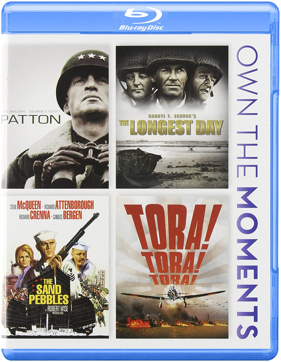 Patton / The Longest Day / The Sand Pebbles / Tora! Tora! Tora! Quadruple Feature Blu-ray