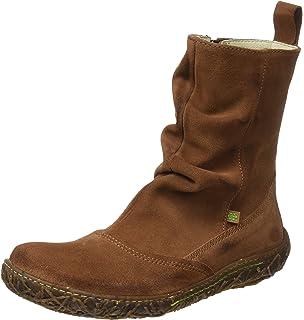 N758 Soft Grain-Lux Suede Nido - Botas Bajas para Mujer, Color Marrón (Wood NND), Talla 36 EU El Naturalista
