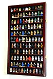 120+ Lego Men / Legos / Mini Figures Minifigures /Display Case Cabinet with 98% UV Protection (Cherry Finish)