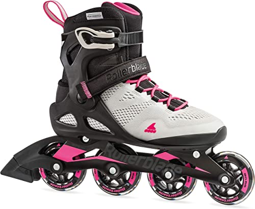 Rollerblade Macroblade 80 Women s Adult Fitness Inline Skate, Cool Grey and Candy Pink, Performance Inline Skates