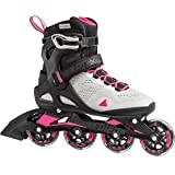 Rollerblade Macroblade 80 Women's Adult Fitness Inline Skate, Cool Grey and Candy Pink, Performance Inline Skates