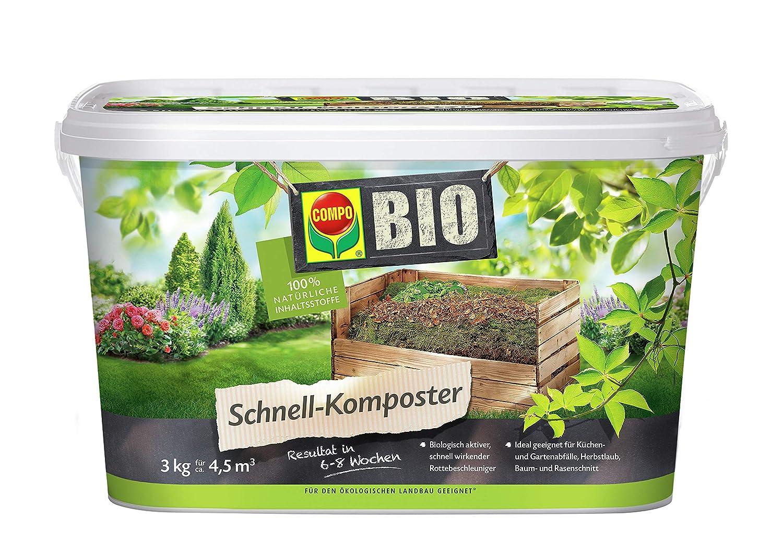 Compo Bio - Compostador rápido 3 kg, Verde, 17, 5 x 17, 5 x 15.6 ...