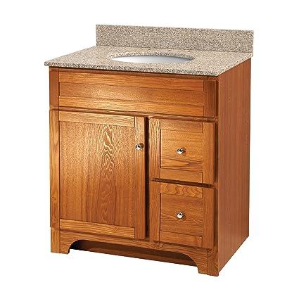 Foremost Wroa3021d Worthington 30 Inch Oak Bathroom Vanity