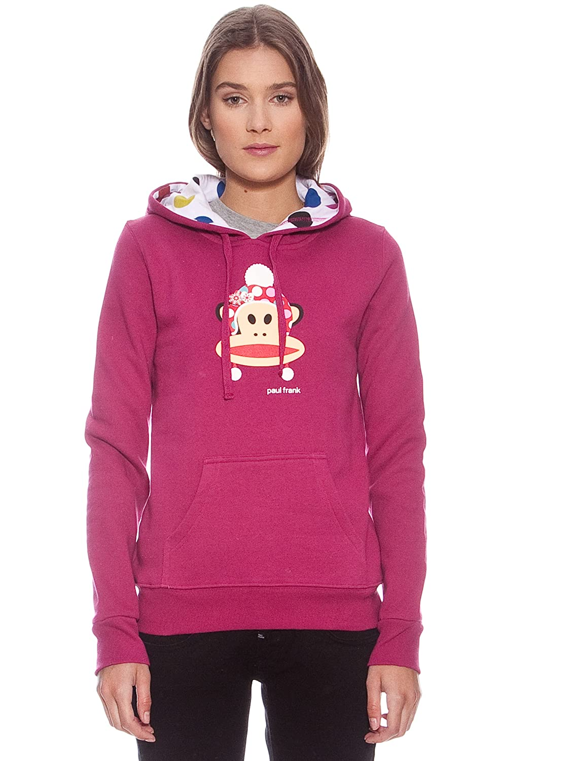 Paul & Frank Sudadera Julius Winter Fucsia L: Amazon.es: Ropa y accesorios