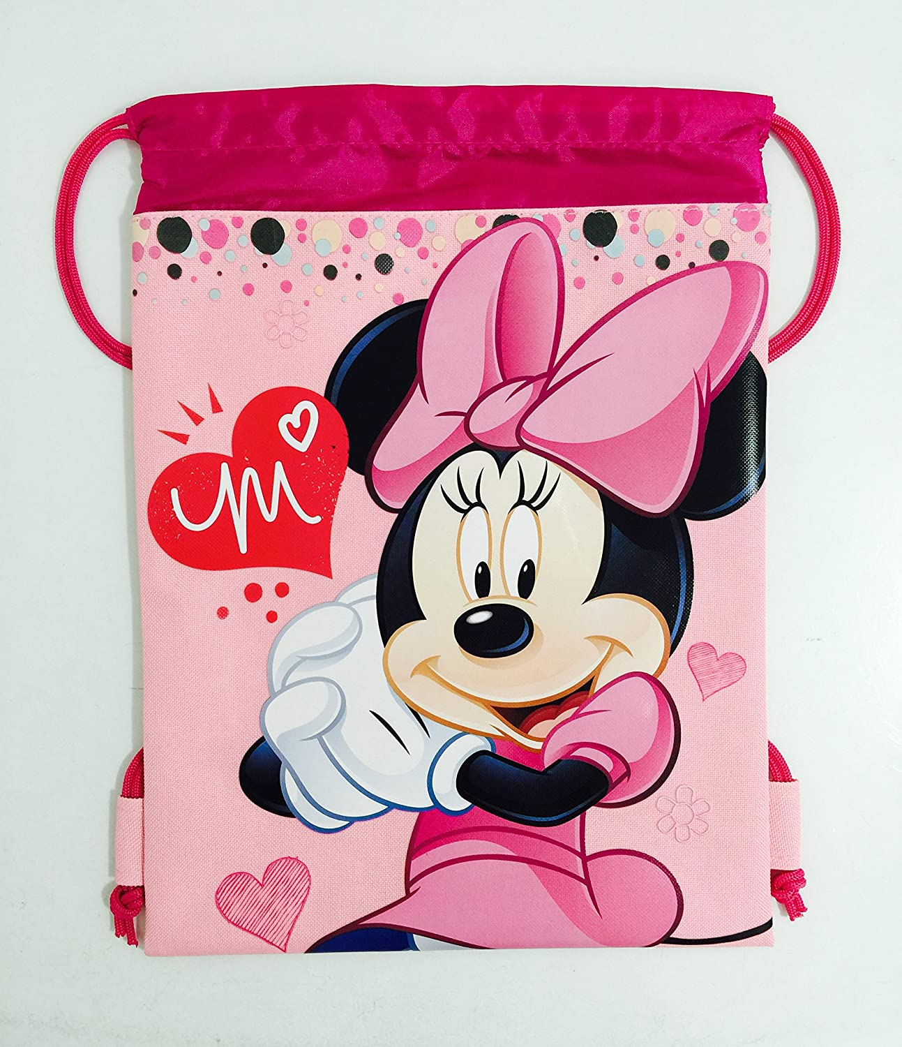 Amazon.com: Disney Minnie Mouse Cordón Mochila Bolsa Con ...