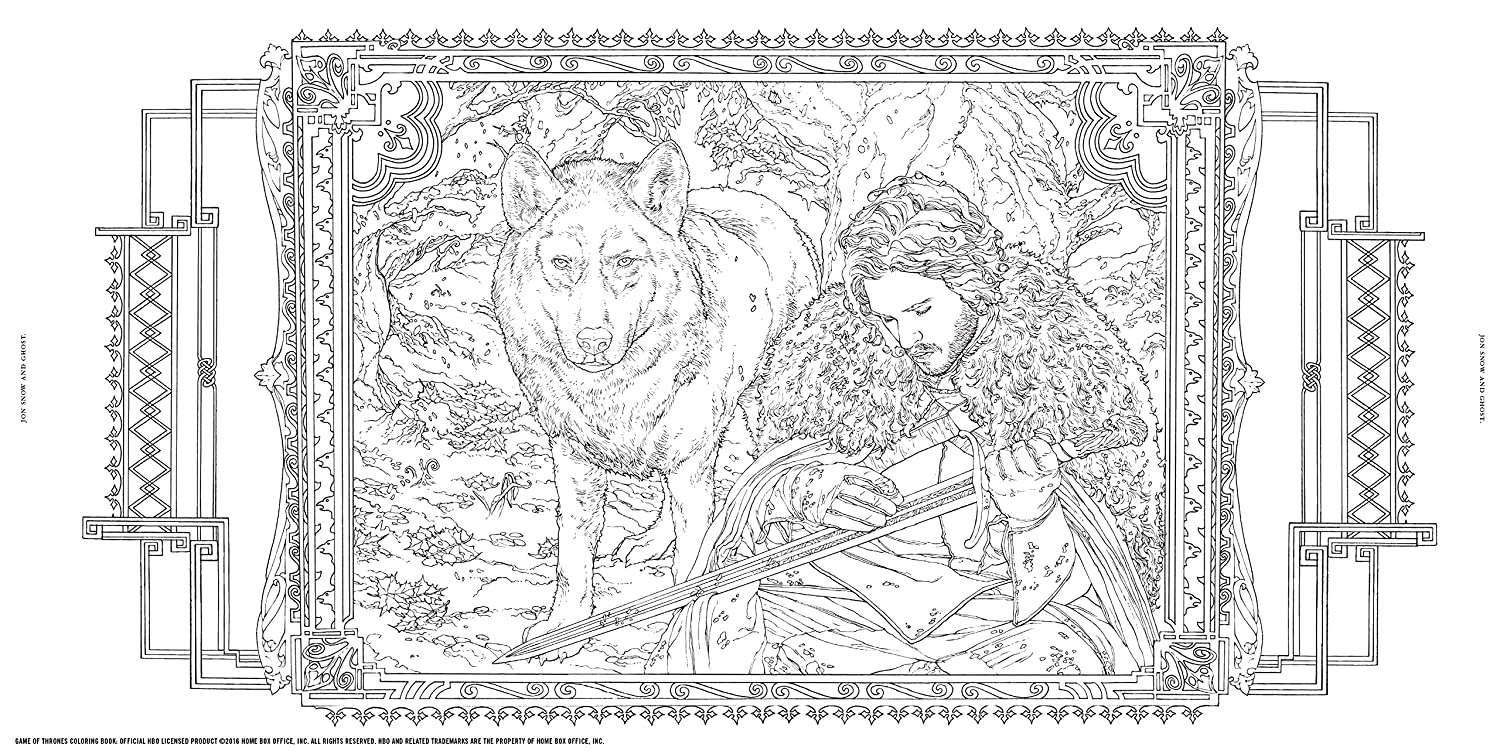 HBOs Game Of Thrones Coloring Book Amazoncouk HBO Books