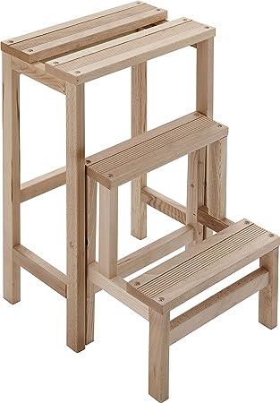 framar everest taburete escalera de madera peldaos