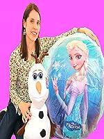 Disney FROZEN videos Super GIANT Anna Surprise EGG Let It Go ELSA  Mega Huge Olaf