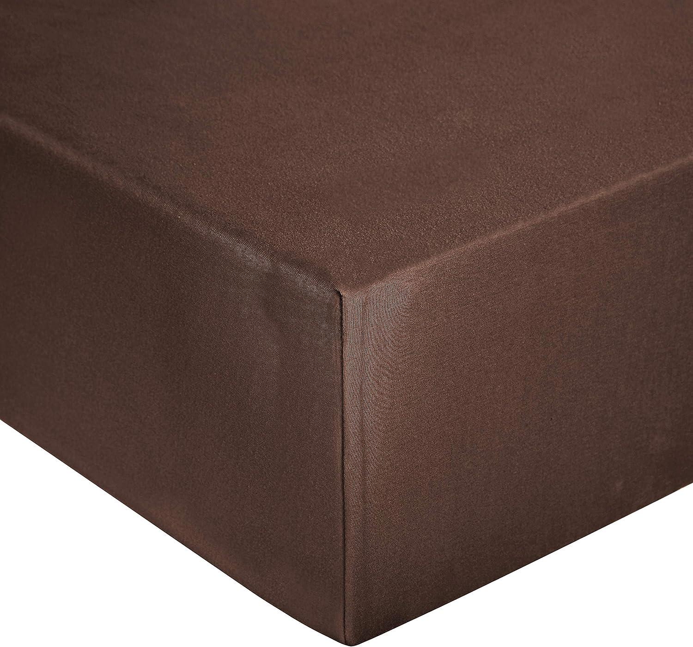 Basics 80 x 200 cm Jersey Spannbetttuch Dunkelgrau