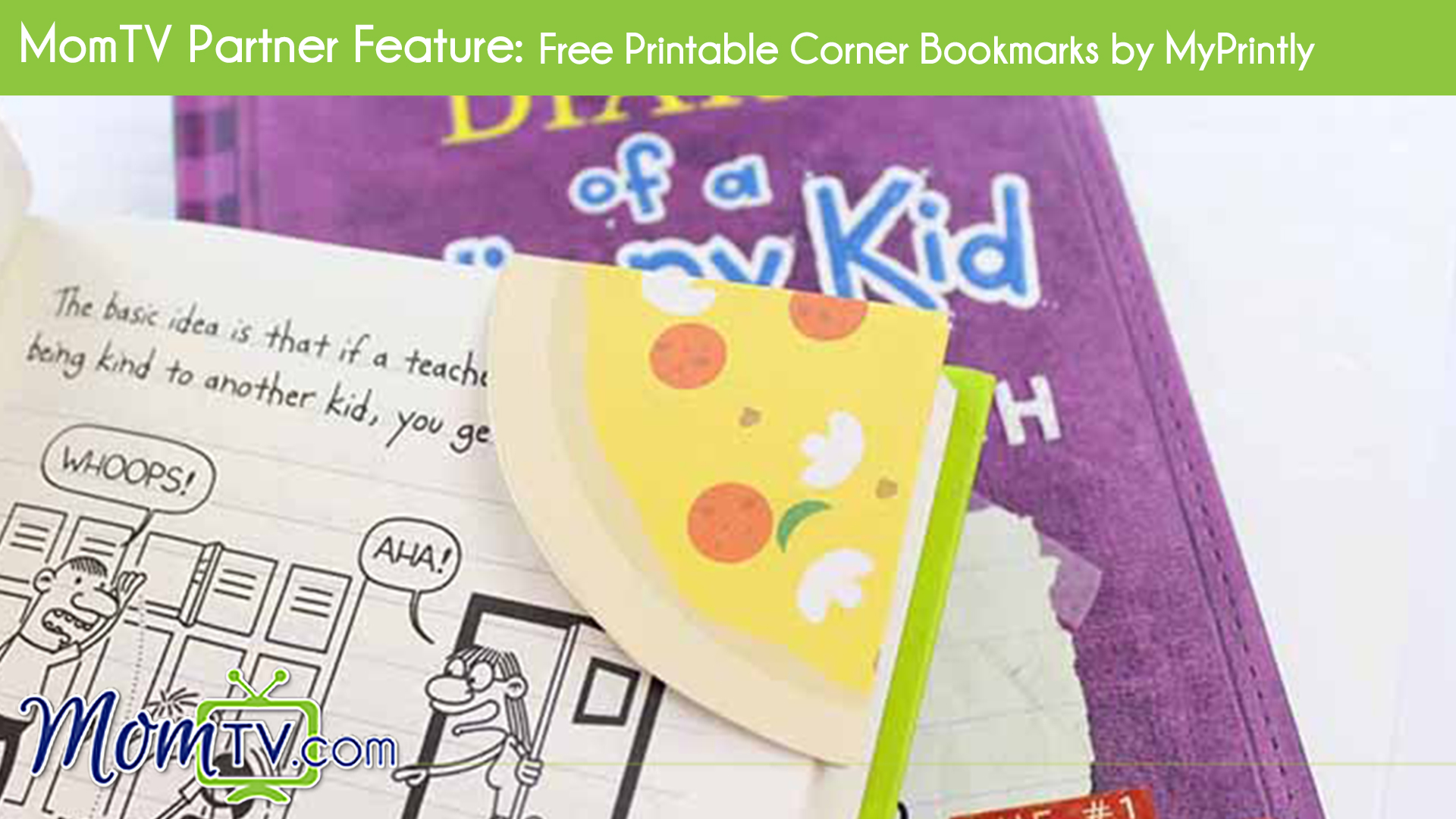 photograph relating to Free Printable Corner Bookmarks named MomTV Husband or wife Function: Cost-free Printable Corner Bookmarks as a result of
