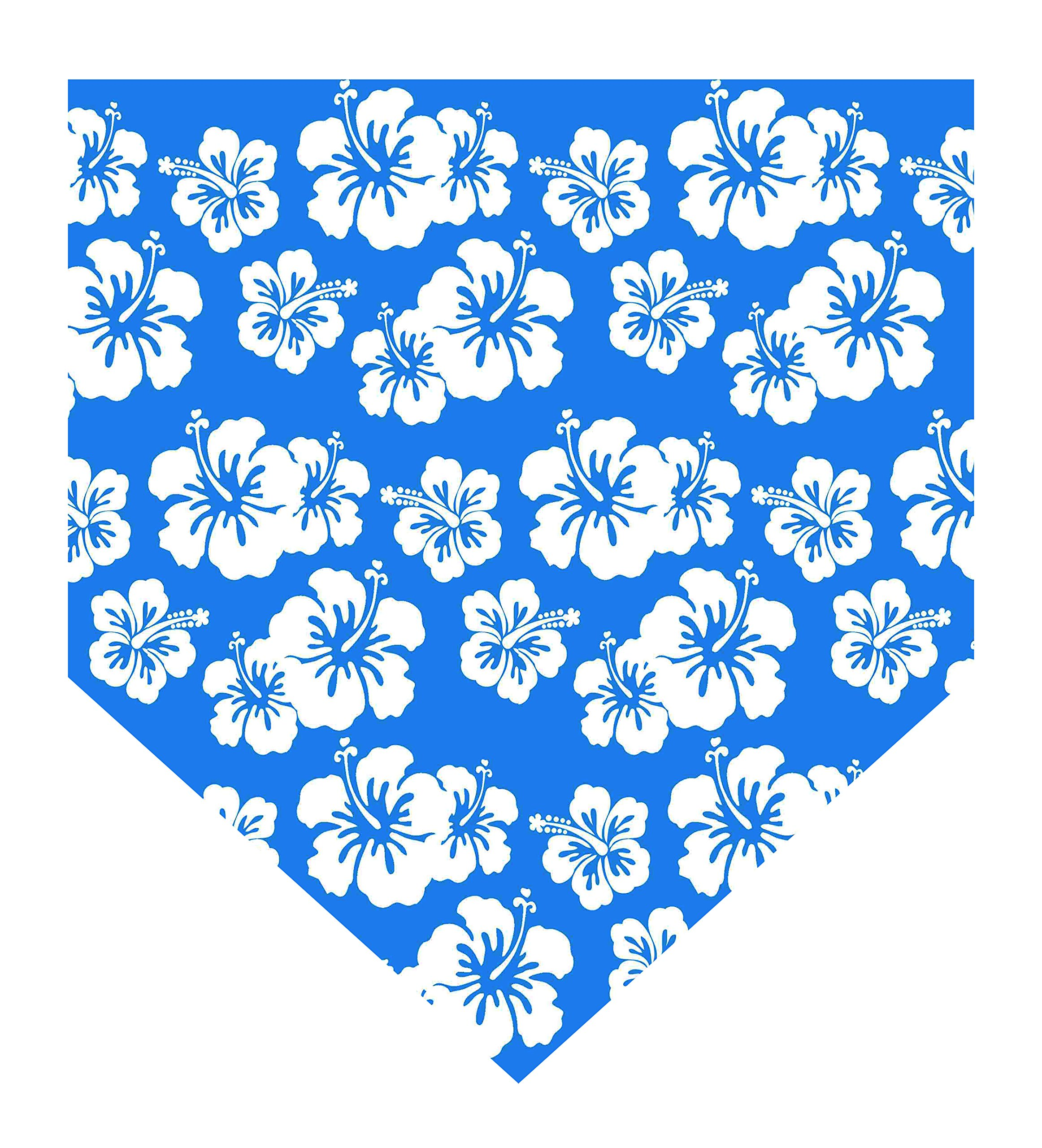 SAE Supply Hawaiian Beach Floral Pet Dog Cat Puppy Bandanna Bibs Triangle Scarf for Small to Large Breed (XL, Blue) by SAE Supply Dog Wear