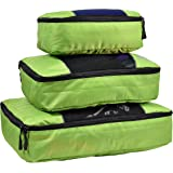 Hopsooken Packing Cubes System - 3 Pieces Sets Travel Luggage Packing Organizers