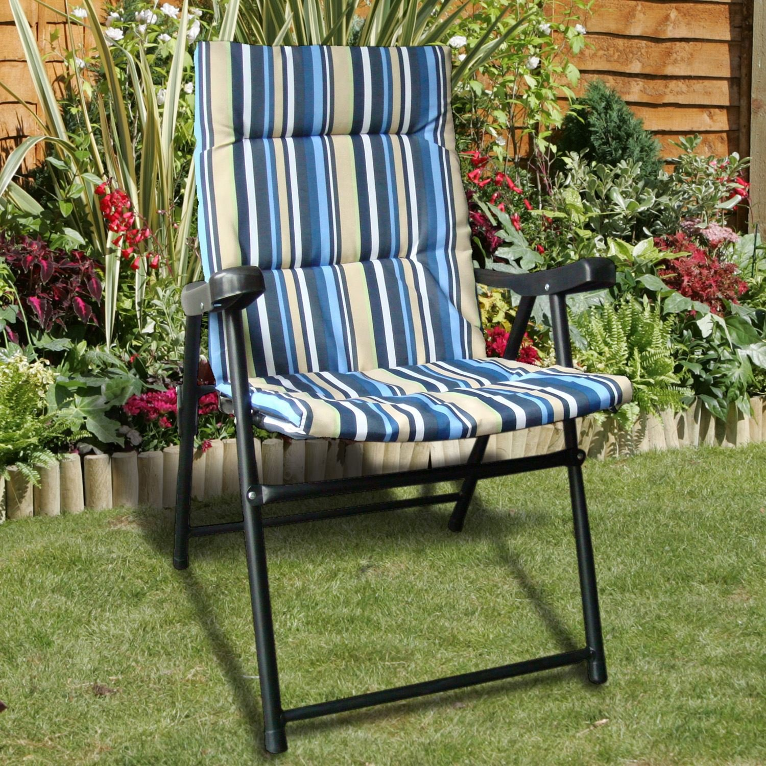 Padded Folding Chair Amazon Garden & Outdoors