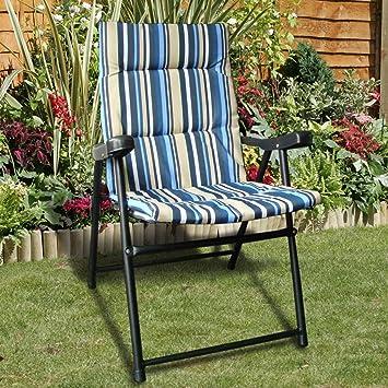 Padded Folding Chair: Amazon.co.uk: Garden & Outdoors