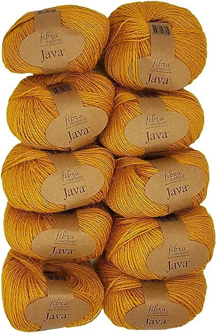 per lavorare a maglia e uncinetto Hemp 500/grammi 100/% Canapa /08 10/X 50/grammi canapa gomitolo Ocra 228/