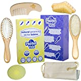 6 Piece Gentle Natural Wood Hair & Nails Brushing