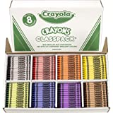 Crayola BIN528008 Crayon Classpack, Regular Size, 8 Colors, Pack of 800