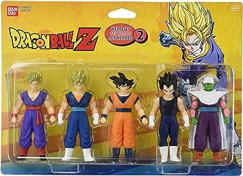 5 figurines dragon ball