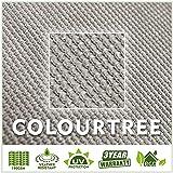 ColourTree 12' x 16' Grey Rectangle Sun Shade Sail