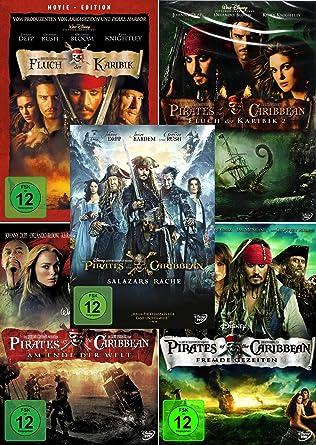 Fluch Der Karibik 1 5 Pirates Of The Caribbean Collection 5 Dvd