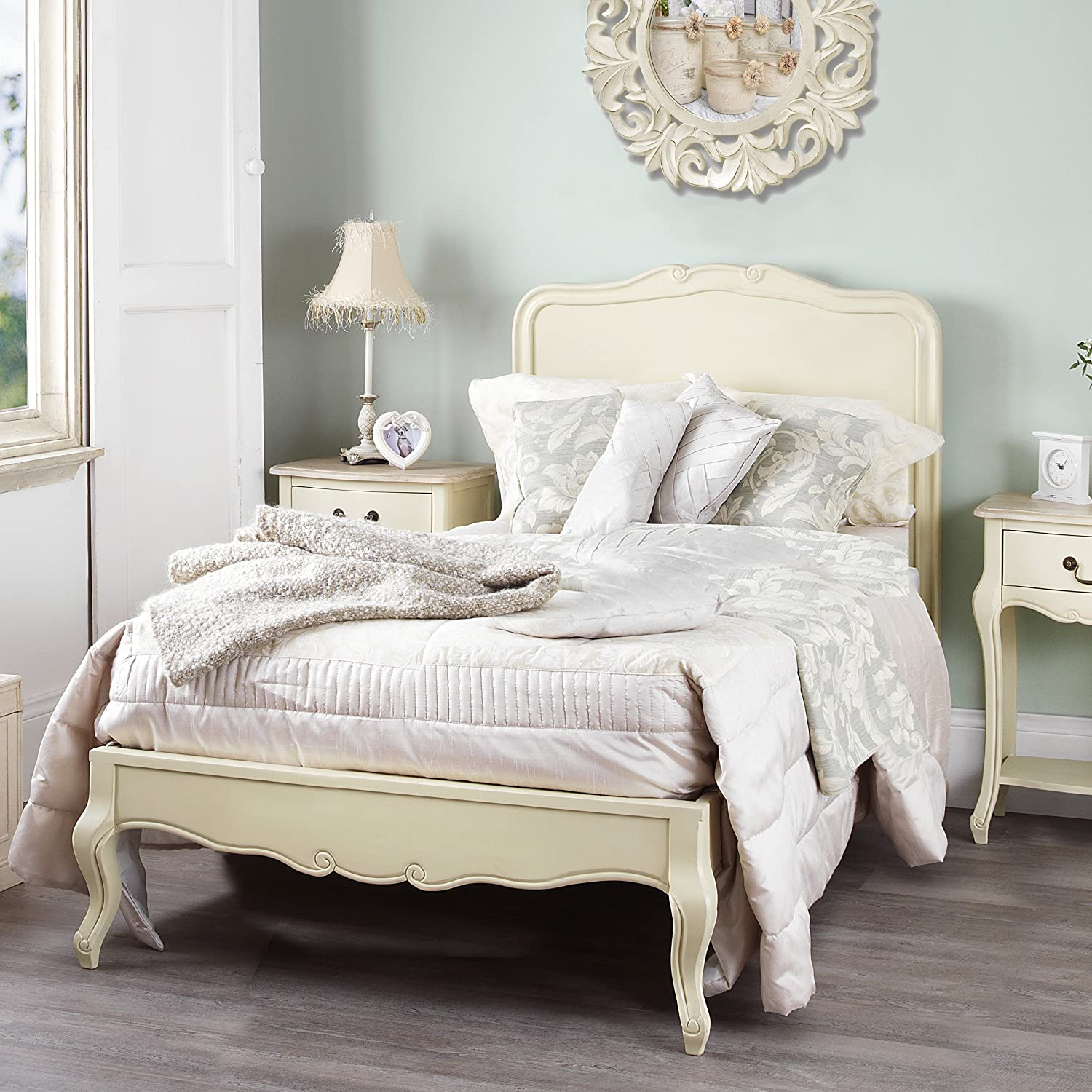 Juliette Shabby Chic Champagne 3ft Single Bed, Stunning ...