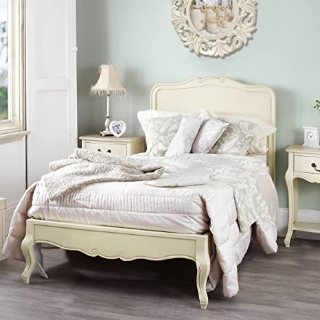 Juliette Shabby Chic Champagne 3ft Single Bed, Stunning Cream French ...