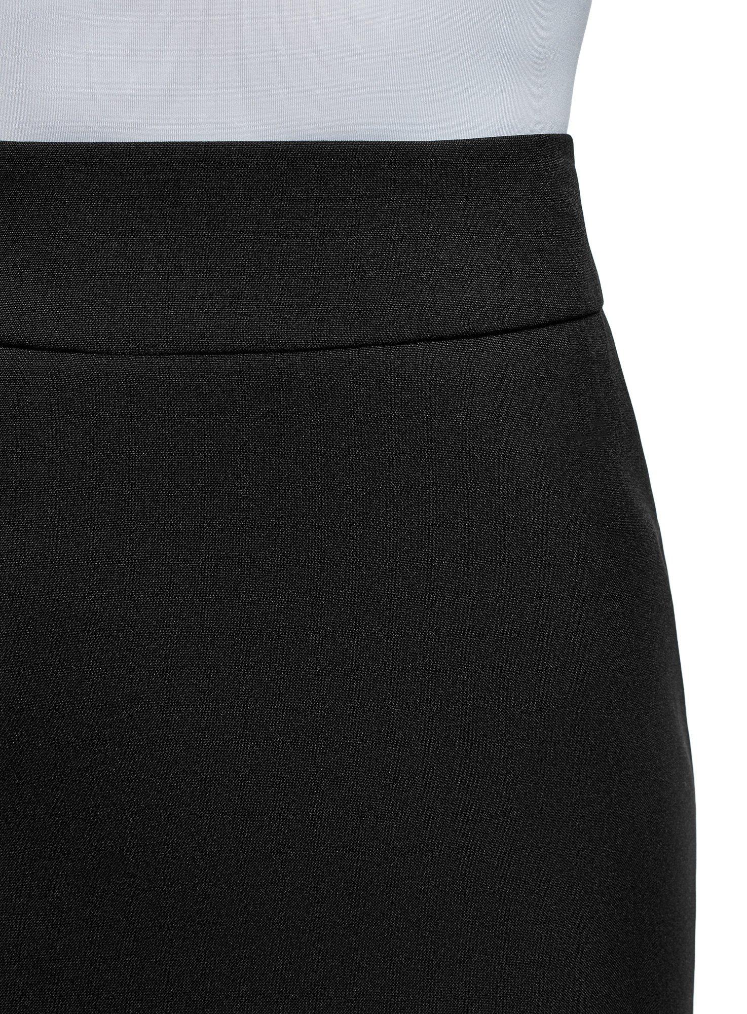 oodji Ultra Women's Basic Short Skirt, Black, 6 by oodji (Image #4)