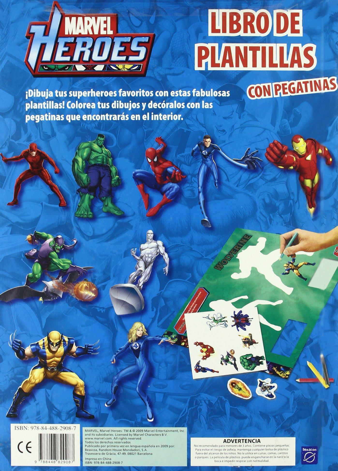 Marvel héroes: libro de plantillas con pegatinas.: Marvel: 9788448829087: Amazon.com: Books