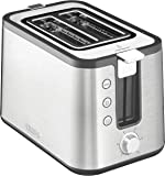 KRUPS KH442D Control Line 2-Slot Toaster with Integrated Bun Warmer and Brushed Stainless Steel Housing, 2-Slice, Silver
