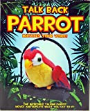 Talk Back Parrot Toy - Battery Operated Novelty Recording Talking Feature