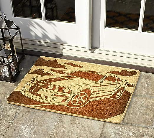 Felpudo de goma para interior y exterior de Ford Mustang, 24 ...