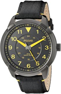 Pulsar Mens PG2023 Analog Display Analog Quartz Black Watch
