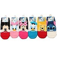 Disney Pixar Licensed Girls Socks Crew Ankle No Show Boy(Toddler,Little Kid,Big Kids)
