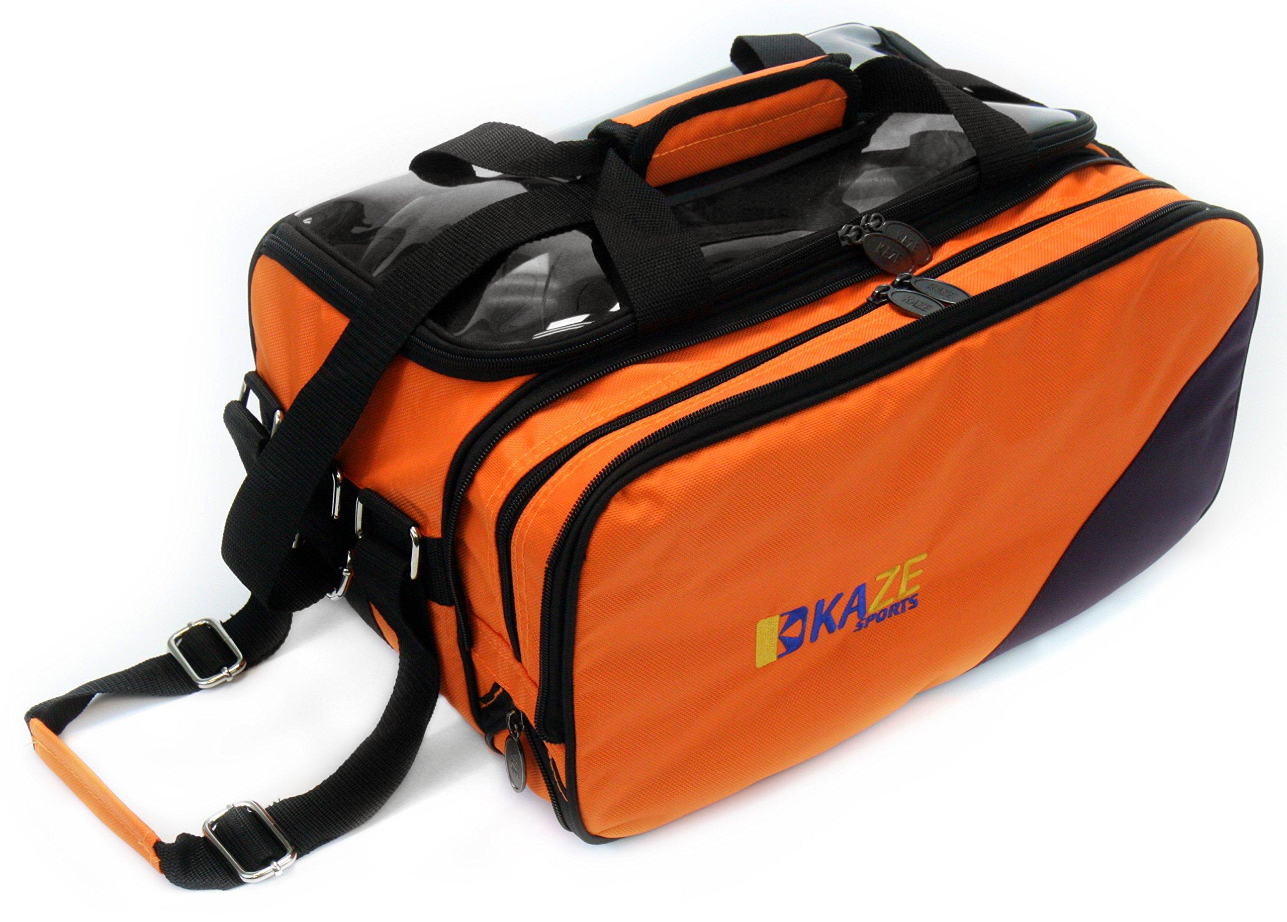 KAZE SPORTS 2 Ball Compact Bowling Roller (Orange-Purple)
