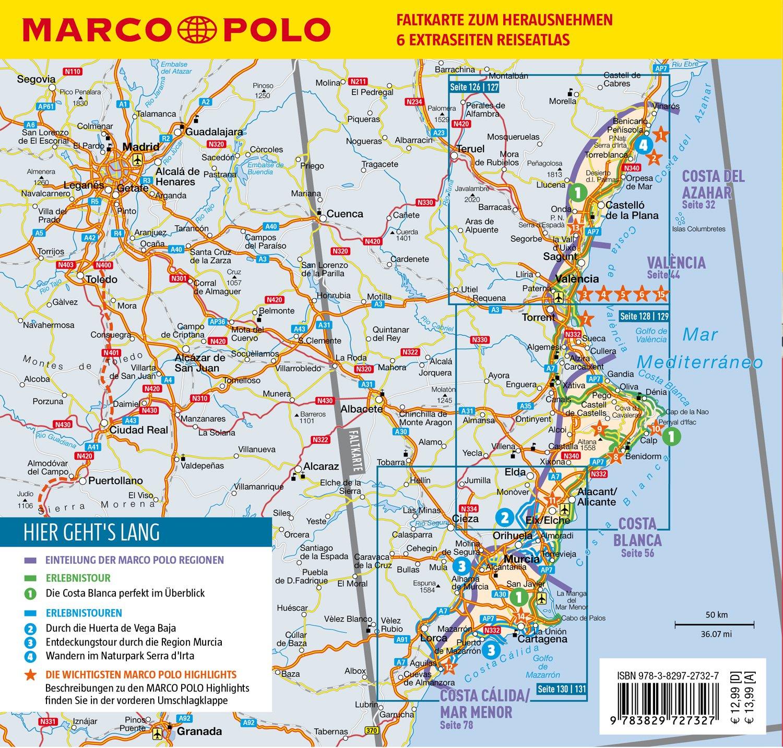 Karte Costa Brava Spanien.Marco Polo Reisefuhrer Costa Blanca Costa Del Azahar