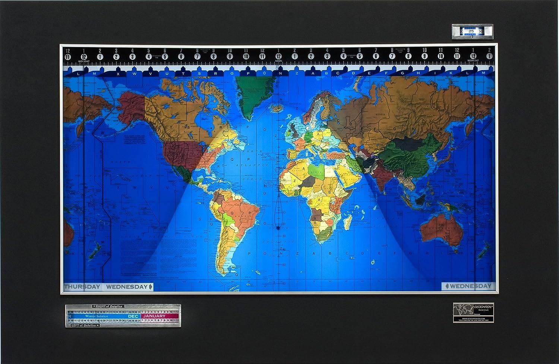 Geochron World Clock: Amazon co uk: Kitchen & Home