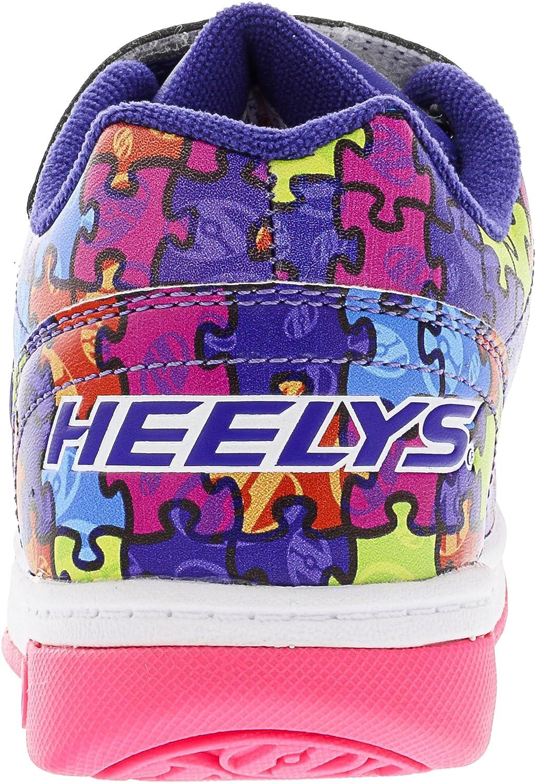 Heelys chaussure à roulette x2 dual up 100024 violet puzzle (34) 4SgB7Sx