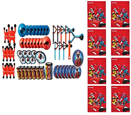 (48pc) Power Rangers Ninja Steel FAVOR PACK WITH 8 LOOT BAGS Party Supply Goody Bags