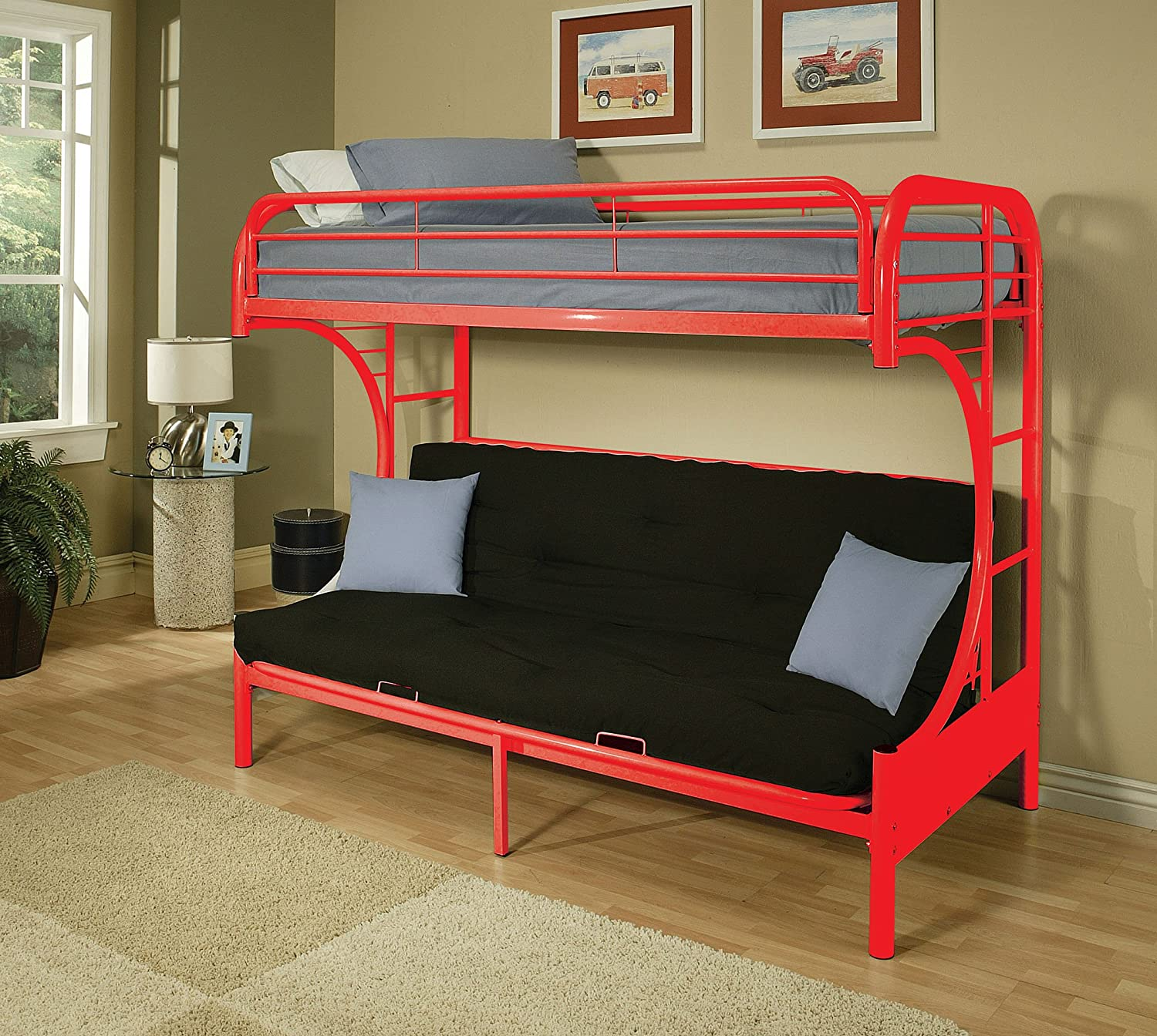 ACME 02091A Eclipse Twin/Full Bunk Bed ACME Furniture