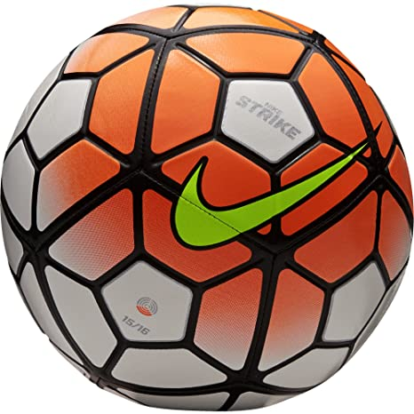 a591f346a8dc9 Amazon.com : Nike Strike Football (White-Total Orange) Size 3 ...
