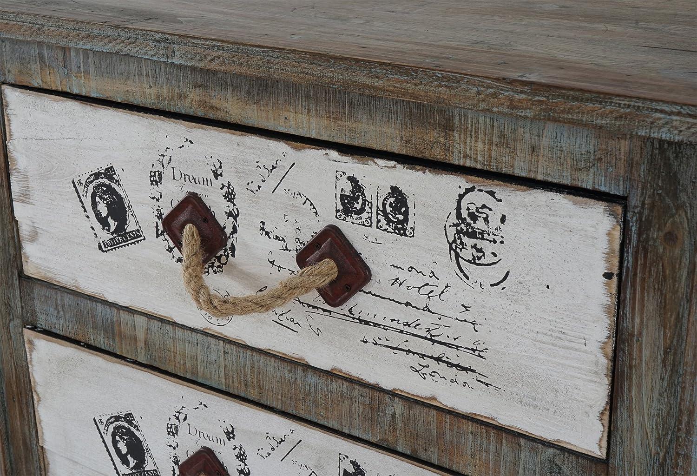 Vintage Mendler Kommode Almada Schubladenkommode Schrank Shabby-Look 80x72x33cm