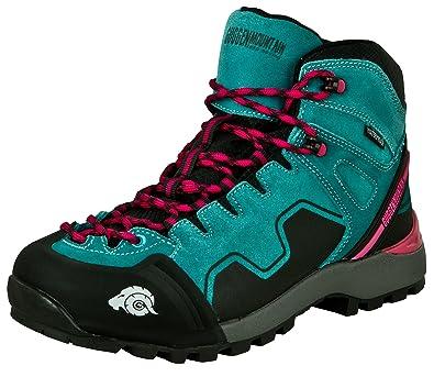 GUGGEN Mountain M014 Damen Trekking-& Wanderstiefel Outdoorschuhe Wasserdicht mit Membran und Wildleder Farbe Pink EU 38 yJhfT4