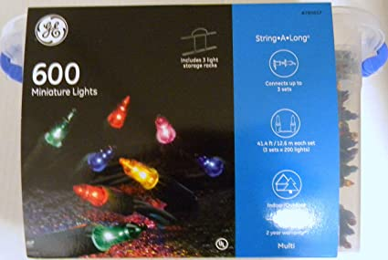 ge indooroutdoor 600 miniature multi color christmas lights 3 lights storage racks
