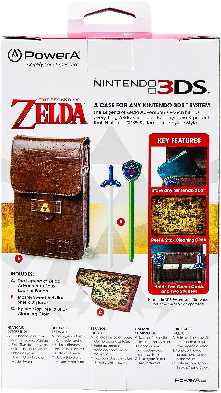 Amazon.com  PowerA The Legend of Zelda Adventurer s Pouch - Nintendo 3DS   Wii GameCube - Brown  Nintendo Wii  Video Games 068bf8f79a02f