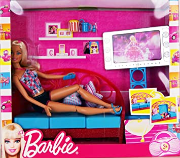 Barbie   T9080   Living Room   Barbie Doll With Apartment Furniture