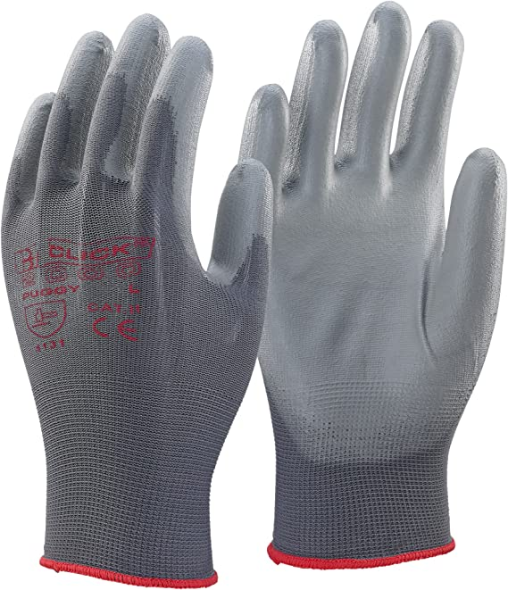 All sizes Click 2000 TBD Tronix Blue Polka Dot Palm Gloves