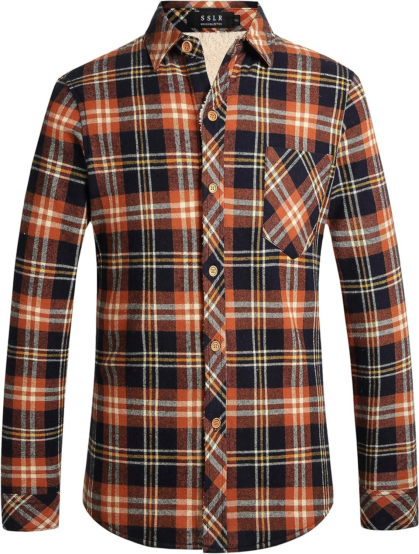 SSLR Camisa Franela de Cuadros con Forro Polar para Invierno de Hombre: Amazon.es: Ropa y accesorios